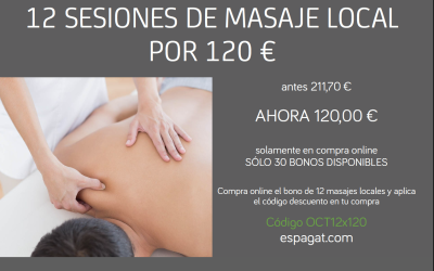 Promoción octubre de bono de masaje local